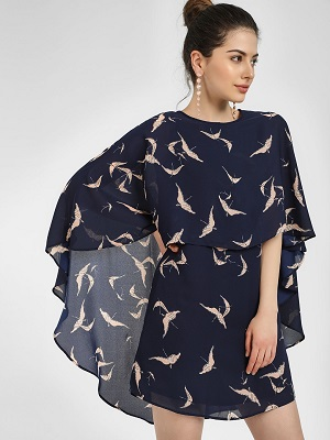 Cape-itdresses with sleeves