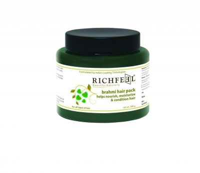 hair-masks-for-dry-and-damaged-hair-Richfeel Hair Pack Brahmi