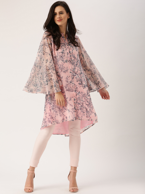 6 indian wear trends all about you from Deepika Padukone Women Pink   Blue Printed Straight Kurta