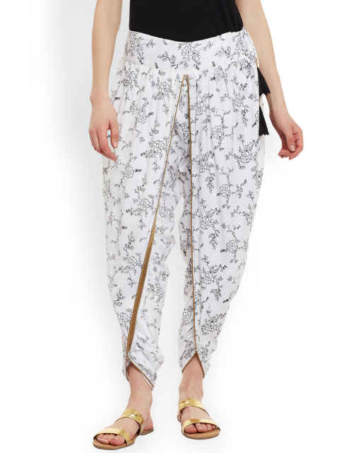 8 indian wear trends 9rasa White Block Print Dhoti Pants