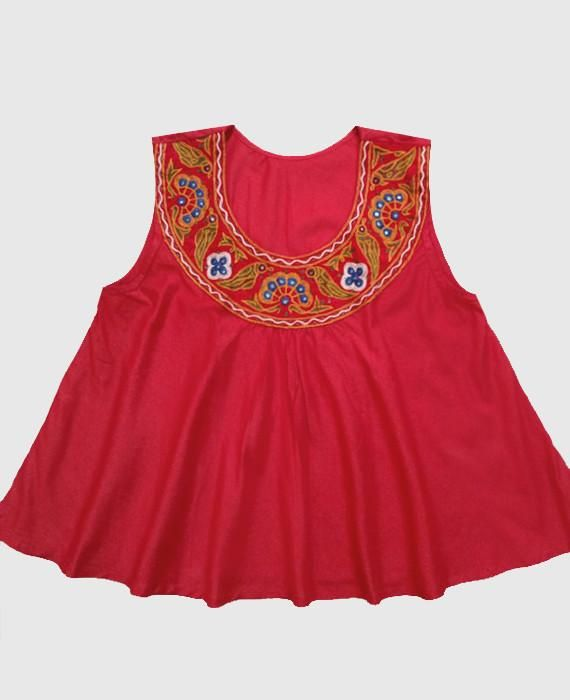 9 indian wear trends BOHO STYLE FLARED TOP WITH BANJARA HAND EMBROIDERY