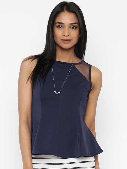 2 summer tops blue peplum top