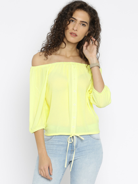 4 summer tops yellow off shoulder op