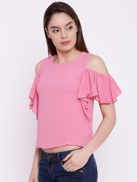 5 summer tops pink off shoulder