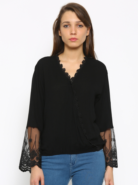 6 summer tops black top