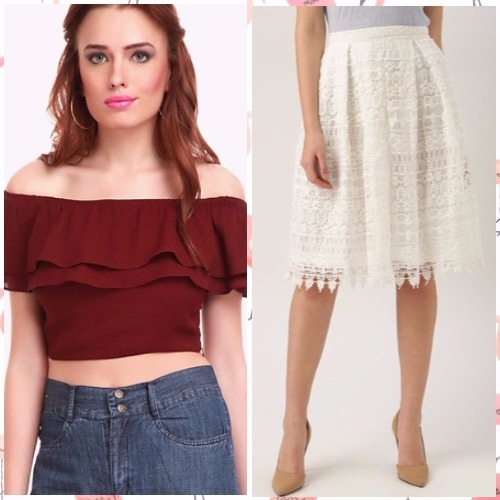 3-bachelorette party outfits-sassafras crop top all about you skirt