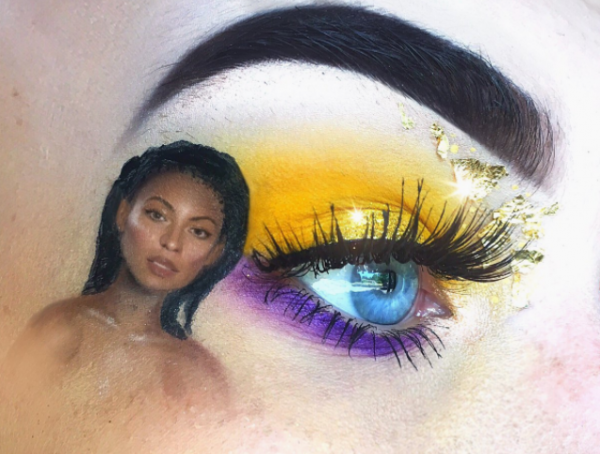 1-mua who draws portraits on her eye-beyonce