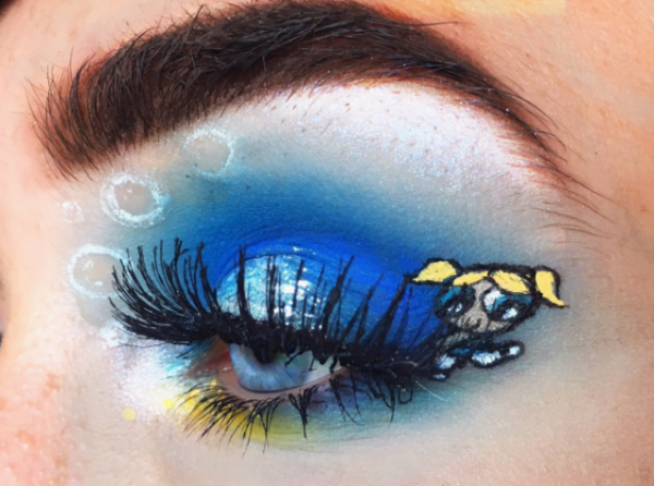 3-mua who draws portraits on her eye-buttercup
