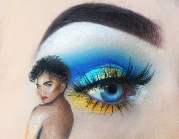 6-mua who draws portraits on her eye-eye makeup