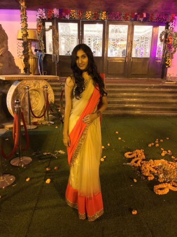 2-how I styled myself-saree