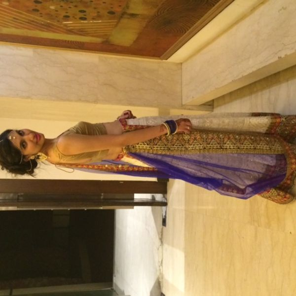 3-how I styled myself-lehenga