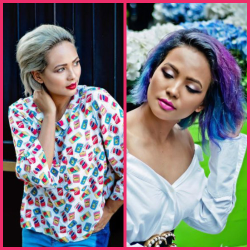 3 hair makeovers - bighairloudmouth blue purple hair