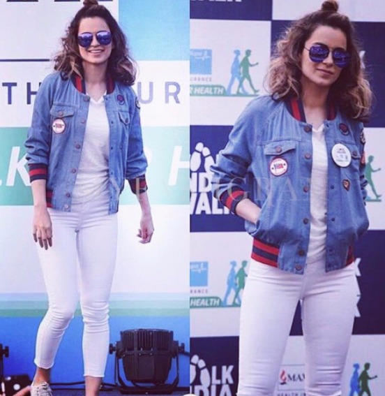 4 wear denim on denim - kangana ranaut