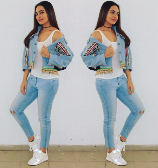 6 wear denim on denim - sonakshi sinha