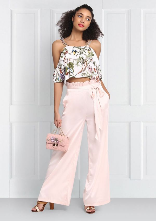 1 tips to wear wide leg pants  Pretty in pink trousers