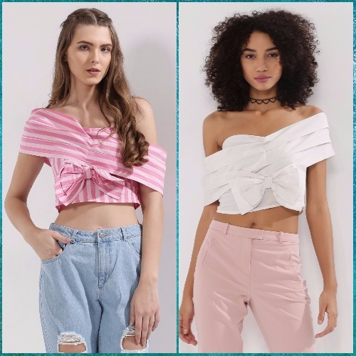 2 off shoulder tops