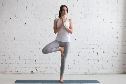 2 basic yoga poses - tree pose
