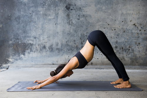 6 basic yoga poses - downward dog