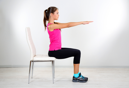 5 exercises for toned arms sit