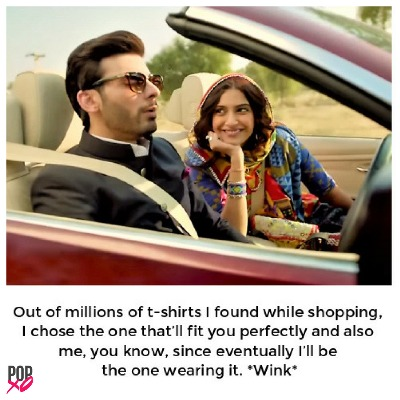 5 love memes - sonam kapoor and fawad khan smiling