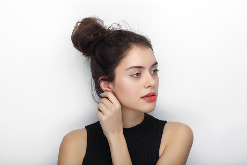 1 easy hairstyles - top knot