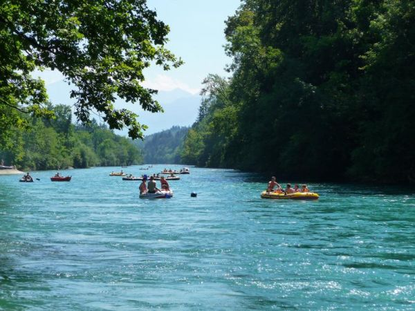 6 unique places in switzerland - Aare River Rafting