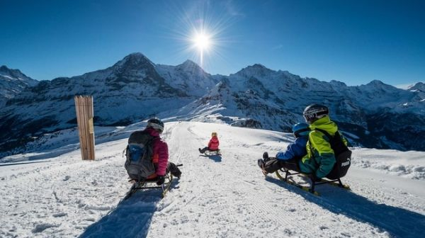 9 unique places in switzerland -Toboggan run at Grindelwald