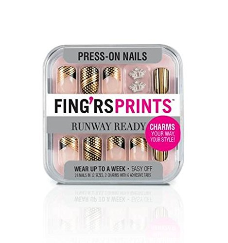 2 chipped manicure - fingrprints press on nails