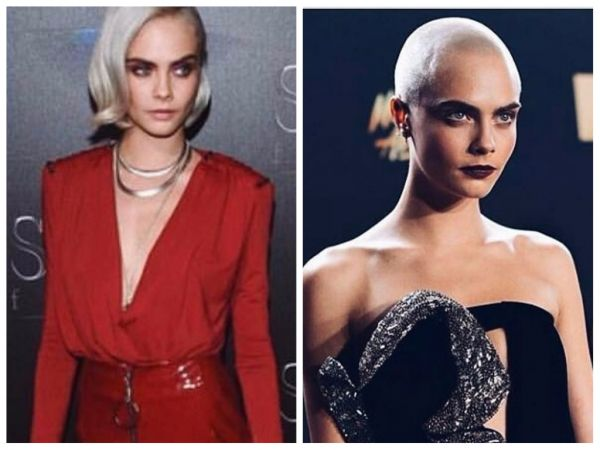 Cara Del Celebrity Hair Transformations