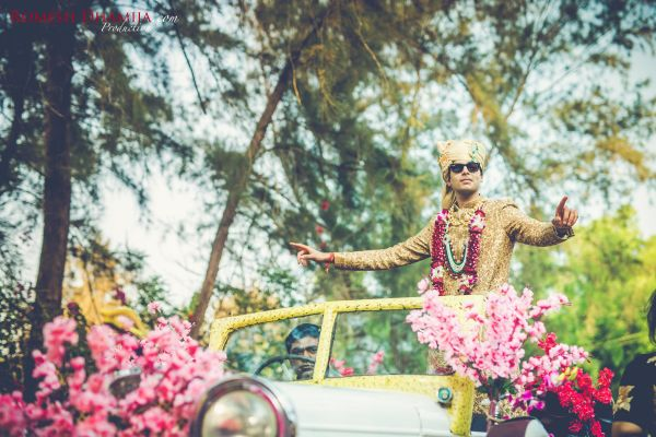 real wedding in goa baraat