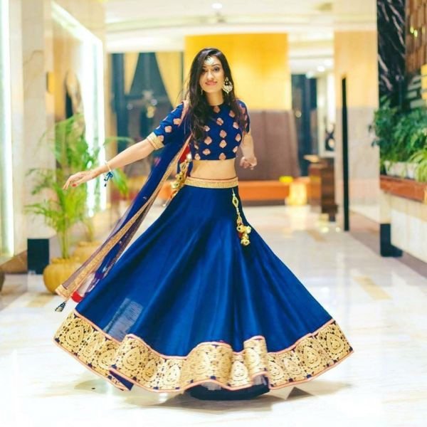 3 wedding season blue lehenga twirl