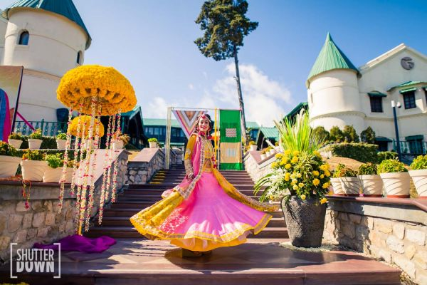 6 destination wedding bride twirling