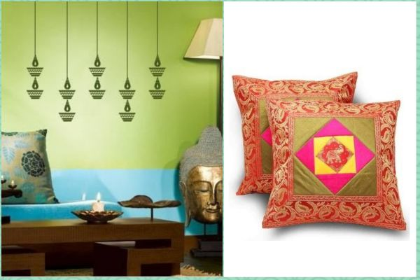 3 online stores - mirraw paisley cushion covers wall decor