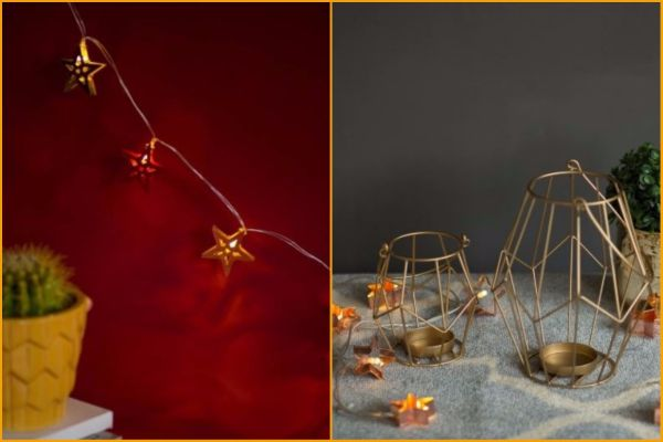 6 online stores - chumbak starry string lights tealight holder iron