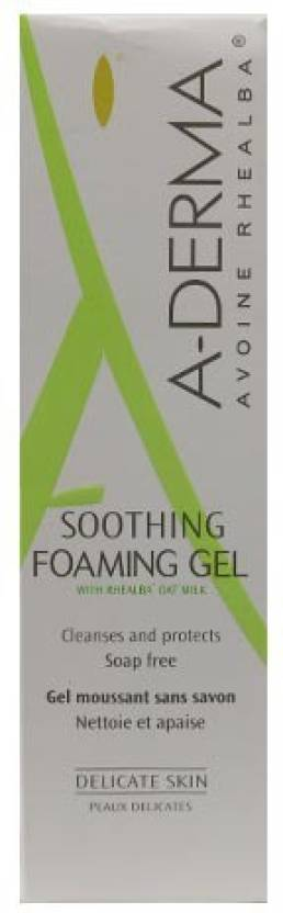 2 face cleansers A-Derma Soothing Foaming Gel