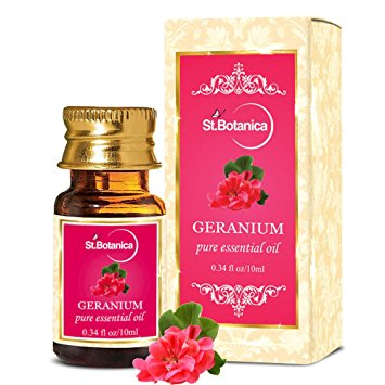 4 carrier and essential oils - geranium