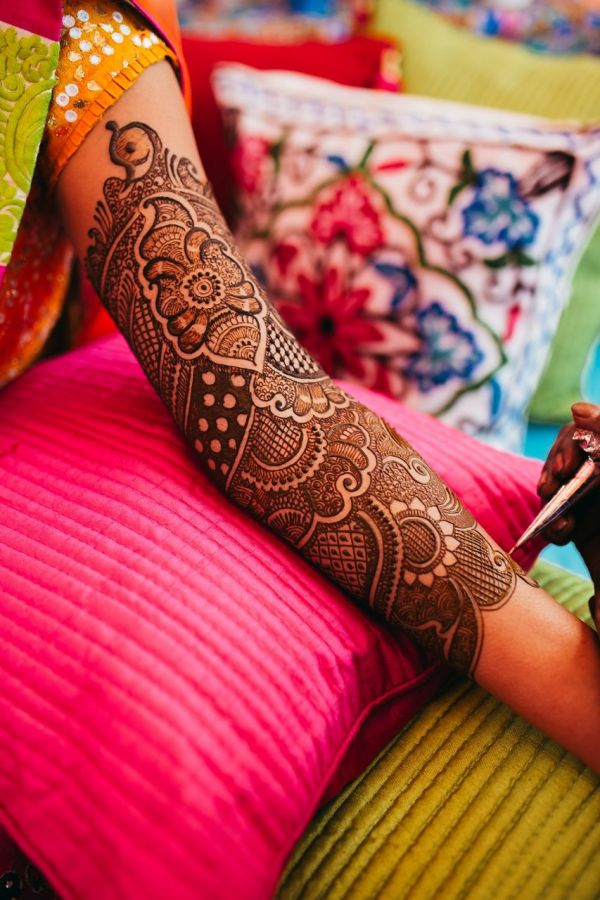 4 mehendi ceremony design close up