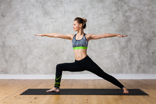 5 yoga for beginners - warrior pose
