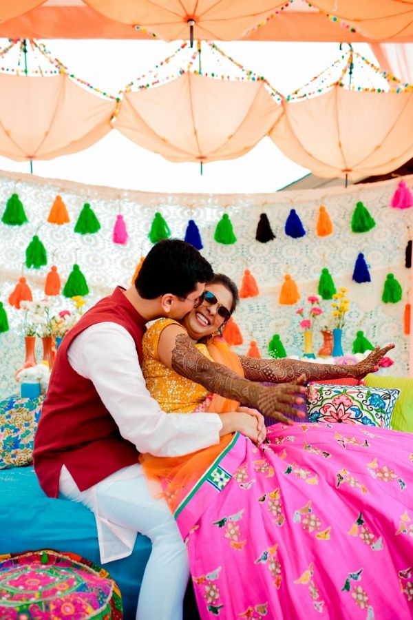 6 mehendi ceremony cute couple