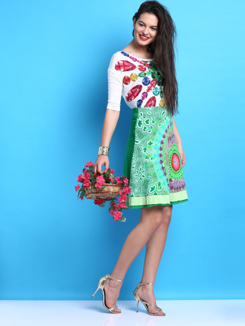 9 how to pronounce fashion brands - printed A-line skirt desigual