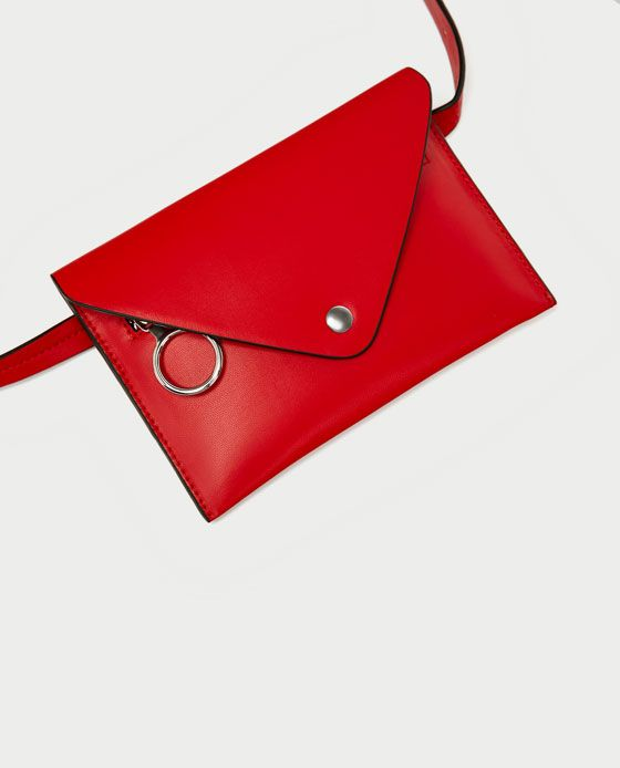 1 fanny pack - red belt bag zara