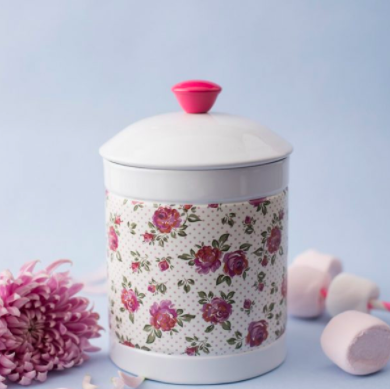 8 make your bedroom stylish Floral Knob Jar