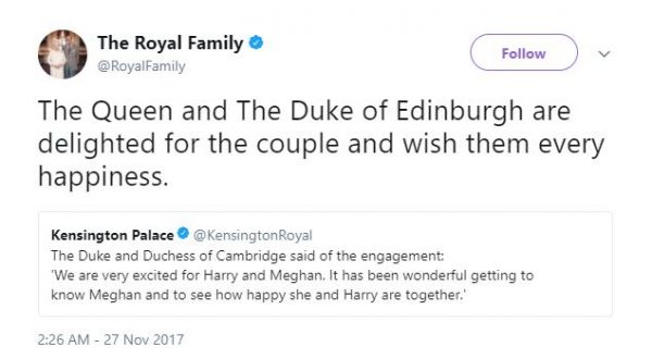 3. Prince harry and meghan markle engagement announcement