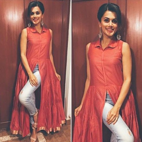 3 kurta with jeans taapsee pannu