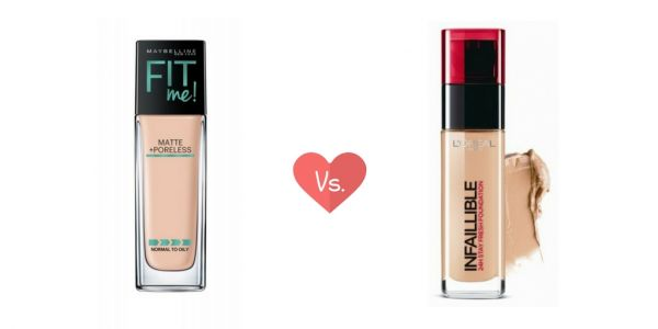 maybelline fit me vs loreal infalliable