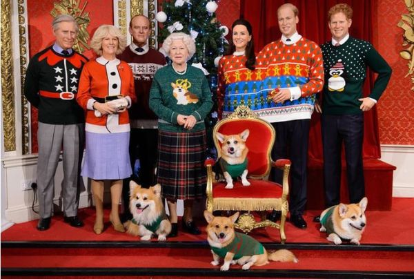 1 ugly christmas sweaters - royal family