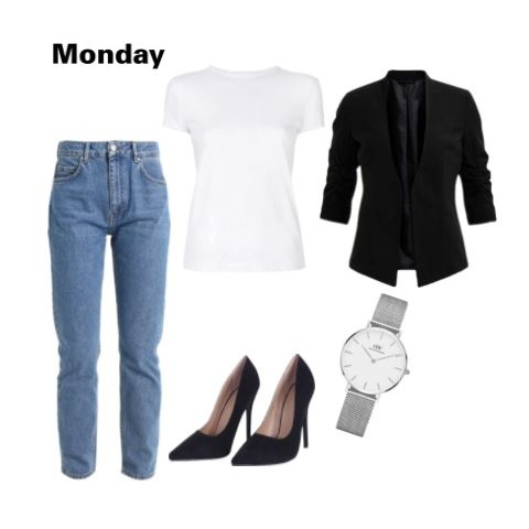 2 outfit - blue jeans white shirt polyvore