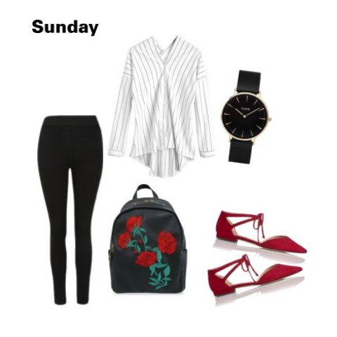 3 outfit - black tights and shirt polyvore
