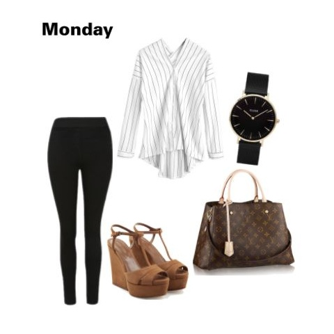 4 outfit - black tights and shirt polyvore
