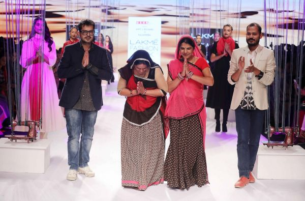 4 From L-R- Amit Vijaya and Richard Pandav showcased their Ranisthan collection at Lakme Fashion Week Summer Resort2018